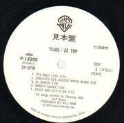 LP - Zz Top - Tejas - Promo + obi & insert
