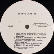 Bettye Lavette / Smokey Robinson - Right In The Middle (Of Falling In Love) / Tell Me Tomorrow
