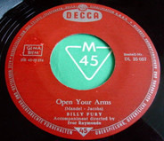 Billy Fury - Jealousy / Open Your Arms