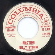 Billy Storm - I Can't Stop Crying For You / Emotion
