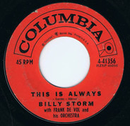 Billy Storm - This Is Always / I've Come Of Age