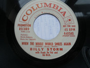 Billy Storm With Frank De Vol And His Orchestra - When The Whole World Smiles Again / Enchanted
