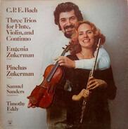 Carl Philipp Emanuel Bach - Three Trios For Flute, Violin, And Continuo