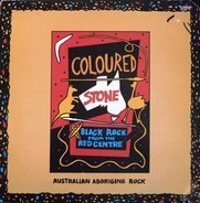Coloured Stone - Black Rock from the Red Centre
