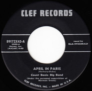 Count Basie Big Band , Ella Fitzgerald , Count Basie Small Band , Joe Williams - April In Paris / Party Blues