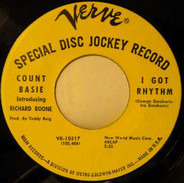 Count Basie Introducing Richard Boone - I Got Rhythm / Boone's Blues