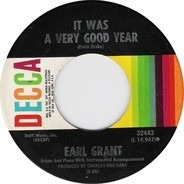 Earl Grant - It Was A Very Good Year / If I Only Had Time (Je N'Aurai Pas Le Temps)