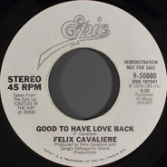 Felix Cavaliere - Good To Have Love Back