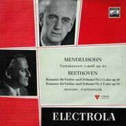 Felix Mendelssohn-Bartholdy ‧ Ludwig van Beethoven / Yehudi Menuhin ‧ Wilhelm Furtwängler - Violinkonzert E-moll Op. 64 ‧ Romanzen Für Violine Und Orchester Nr.1 G-dur Op. 40 Und Nr. 2 F-dur