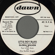 Gloria Wilson - Little Boy Blues / Way Beyond The Hills