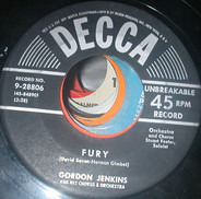 Gordon Jenkins And His Orchestra - Fury / Afternoon Dream