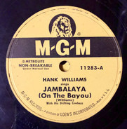 Hank Williams With His Drifting Cowboys - Jambalaya (On The Bayou) / Window Shopping