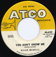 Helen Merrill - You Don't Know Me / I'm So Lonesome I Could Cry