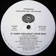 II D Extreme - If I Knew Then (What I Know Now)