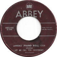 J. Lawrence Cook - Let Me Call You Sweetheart / Red Hot Mama