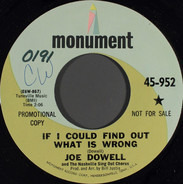 Joe Dowell - If I Could Find Out What Is Wrong