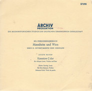Johann Stamitz - Orchestertrio op. 1 Nr. 2 / Konzert Für Oboe, Streichorchester und Continuo / ...