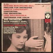 L. Bernstein w/ Columbia Symphony Orchestra - Hill: Prelude For Orchestra /  Lopatnikoff: Concertino For Orchestra, Op.30 / Dallapiccola: Tartini