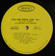 Lester Young With Count Basie Orchestra - Lester Young Memorial Album Volume 1