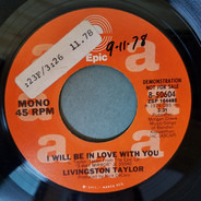 Livingston Taylor - I Will Be In Love With You