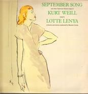 Lotte Lenya - September Song And Other American Theatre Songs Of Kurt Weill