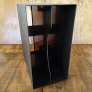LP-Box, 70er Jahre - in dunkelbraun, für ca. 40 LPs