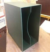 LP-Box, 70er Jahre - in dunkelgrün, für ca. 40 LPs