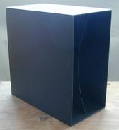 LP-Box, 70er Jahre - in grau, für ca. 40 LPs