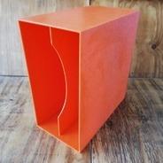 LP-Box, 70er Jahre - in orange, für ca. 40 LPs