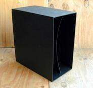 LP-Box, 70er Jahre - in schwarz, für ca. 40 LPs