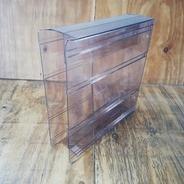 LP-Box, 70er Jahre - in transparent grau, für ca. 20 LPs