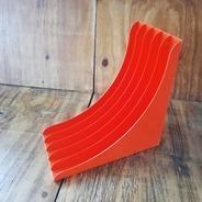 LP-Winkel, 70er Jahre - in orange,  für ca. 40 LPs