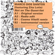 Marco Dos Santos Featuring Zita Lotis - Not On The Guest-List
