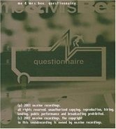 Me & Mrs Bee. - Questionnaire CD