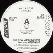 New York Blondes Featuring Madame X , Rodney And The Brunettes - Little G.T.O. / Holocaust On Sunset Boulevard