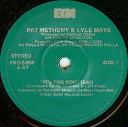 Pat Metheny & Lyle Mays - It's For You (Edit)