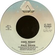 Paul Davis - Cool Night / One More Time For The Lonely