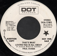 Paul Evans - That's What Loving You Is All About