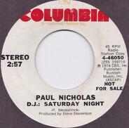 Paul Nicholas - D.J.: Saturday Night