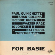Paul Quinichette , Shad Collins , Freddie Green , Walter Page , Jo Jones , Nat Pierce - For Basie