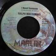 Ralph MacDonald - I Need Someone / Discolypso