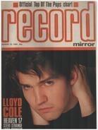 Record Mirror - AUG 18 / 1984 - Lloyd Cole