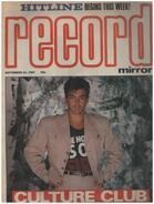 Record Mirror - SEP 22 / 1984 - Culture Club