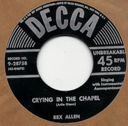 Rex Allen - Crying In The Chapel