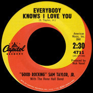Sam Taylor With Rene Hall Band - Everybody Knows I Love You