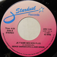 Serge Gainsbourg & Jane Birkin / Barry Darvell - Je T'aime Moi Non Plus / How Will It End?