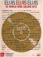 Sheet Music - Elvis Elvis Elvis - 45 World-Wide Golden Hits