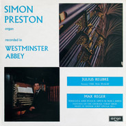 Simon Preston , Julius Reubke / Max Reger - Sonata 'The 94th Psalm' / Toccata And Fugue Opus 59 Nos 5 And 6 / Fantasia On The Chorale 'Straf' M