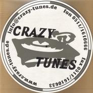 Slipmat - Crazy Tunes Aufdruck, 1 Stück in weiß