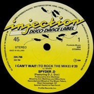 Spyder-D - I Can't Wait (To Rock The Mike)